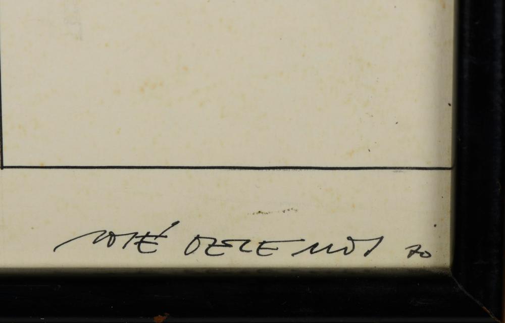 JOSÉ LEMOS, Tinta-da-china s/papel, 22,5 x 28,5cm.