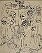 Malangatana, 71, desenho s/papel, 44x35,5cm.,  Malangatana, Click for value