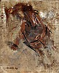Pomar, óleo s/tela, 24,5 x 19,5 cm. JÚLIO POMAR,, Julio Pomar, Click for value