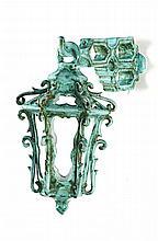 Lanterna sextavada de suspender em cerâmica