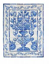 Painel de azulejos do séc. XVIII, 48 azulejos