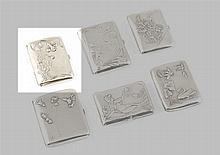 Cigarreira Art Nouveau em prata alemã, 800%, P.55g