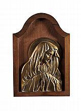 Nª Srª, Placa em bronze dourado