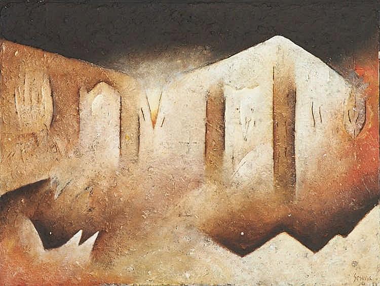 Raymundo SESMA, Téc.mista s/papel, 76 x 102 cm.