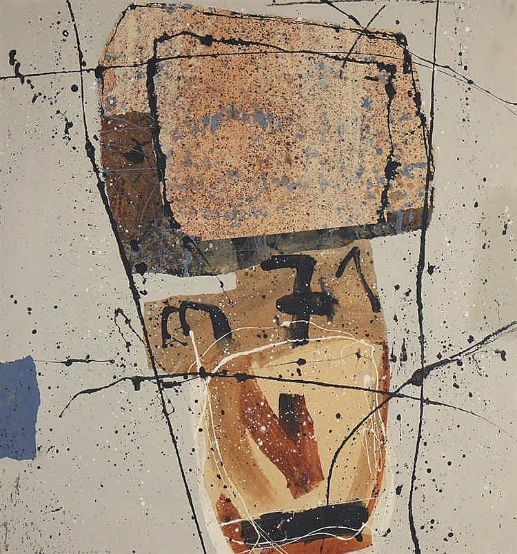 CARLOS BARÃO, mista sobre tela, 150 x 140 cm.