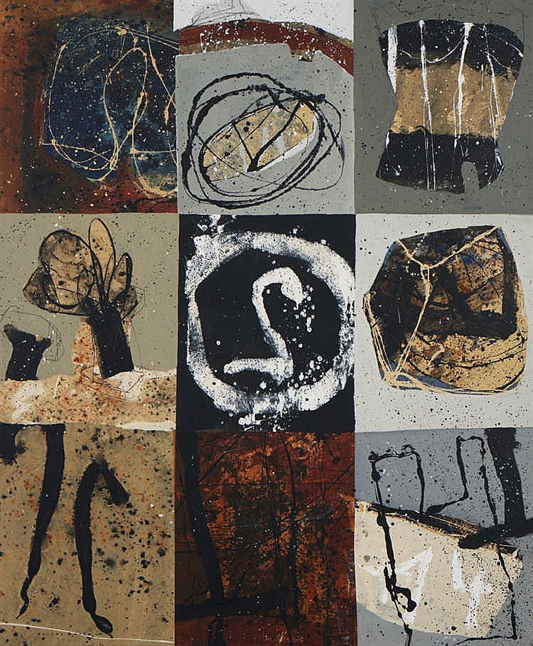 CARLOS BARÃO, mista sobre tela, 180 x 150 cm.