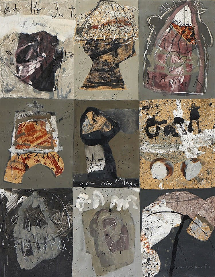 CARLOS BARÃO, mista sobre tela, 146 x 114 cm.