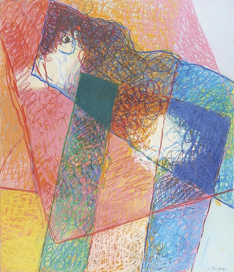 Zeca, técnica mista s/cartolina, 80,5x70 cm