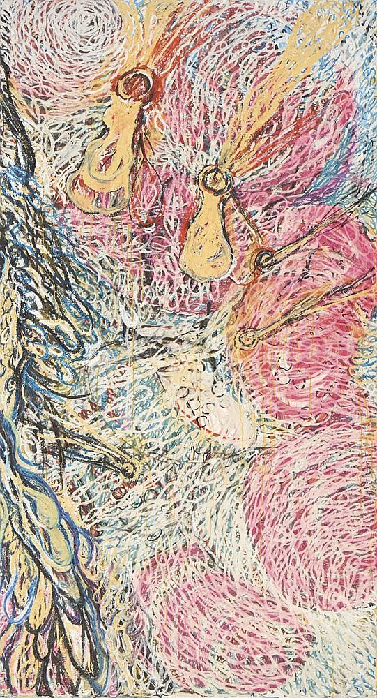 MENDONÇA, lápis de óleo s/ tela, 235 x 260