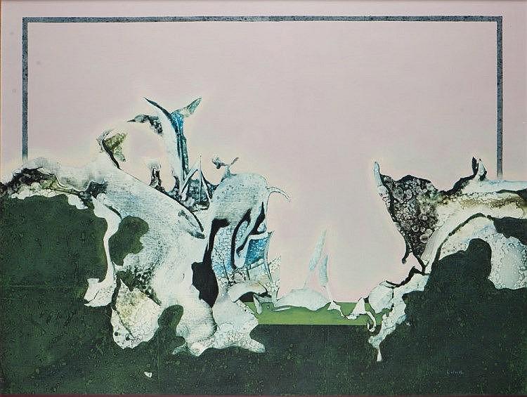 Philippe LABARTHE, mista sobre tela, 89 x 116 cm.