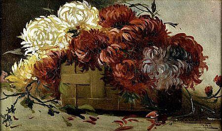 Eduarda Lapa; Natureza morta com flores; 31 x 48,5