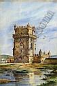 Casanova, Torre de Belém, aguarela s/ papel ver