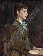 Sousa Pinto, Retrato, óleo,30,5 x 23,5 cm. ver, José Julio