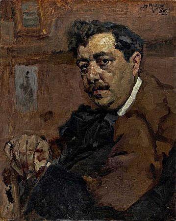 José Malhoa, 'Julião Machado',óleo s/tela, 50x40cm