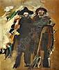 Júlio Pomar, Camponeses, óleo s/tela, 72x60cm ver, Julio Pomar, Click for value