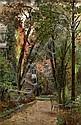 Alfredo Keil, Paisagem de jardim, óleo tela, 51x33, Alfredo Keil, Click for value
