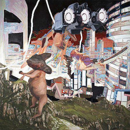 Ricardo Angélico,'Gilgamesh...', mista, 200x200cm.