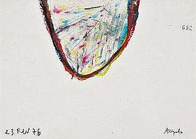 Ângelo de Sousa, mista sobre papel, 15 x 21cm.
