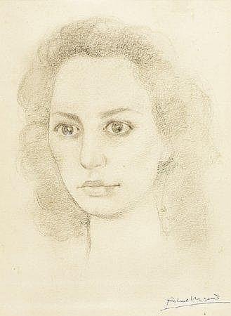 Abel Manta, Cabeça de mulher, Dim.: 27 x 19,5 cm.