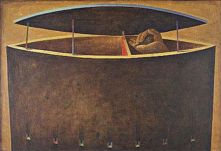 Alfredo Luz, Óleo sobre tela, 88 x 130 cm. LUZ,