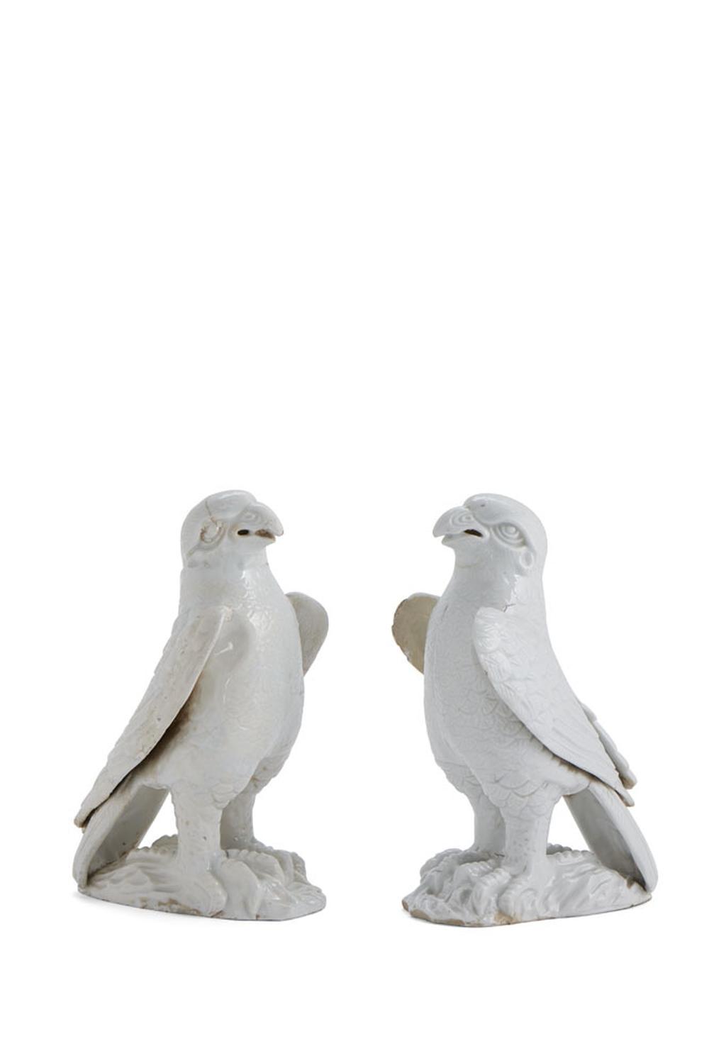 Par de falcões, esculturas porcelana chinesa(2)