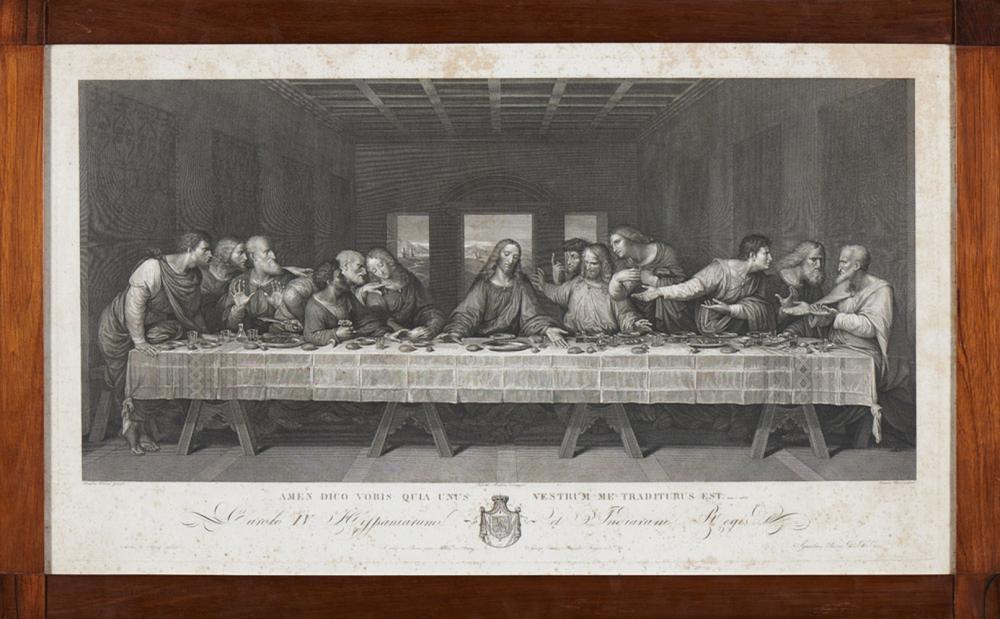 Última Ceia, gravura a negro sobre papel, de Ignat