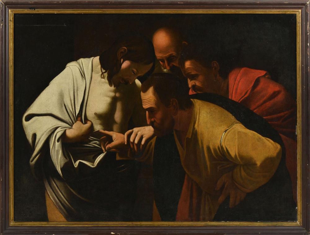 Cópia de Caravaggio, Óleo sobre tela, 98 x 134 cm.