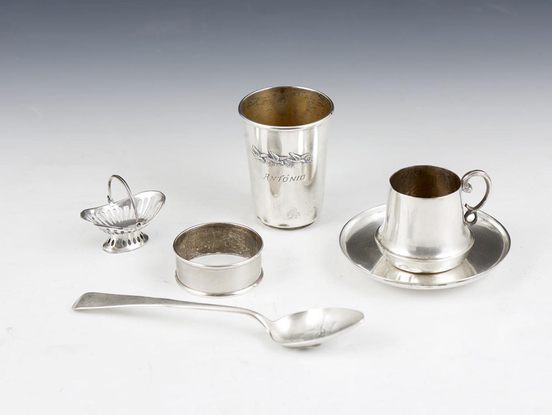 6 peças em prata, 833%, P.: 176 g.