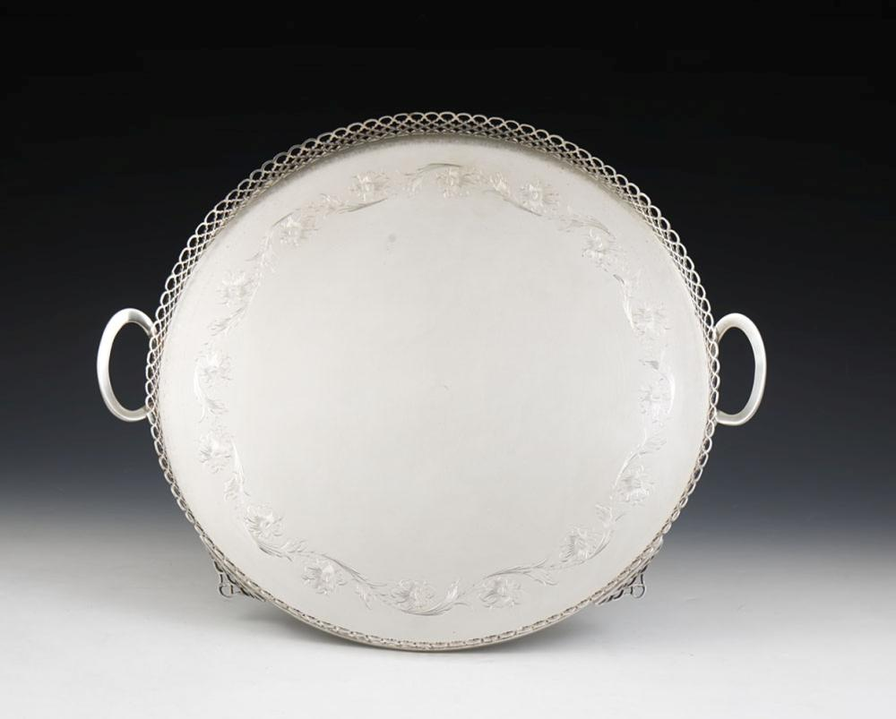 Tabuleiro de gradinha em prata 833%, P.1868g