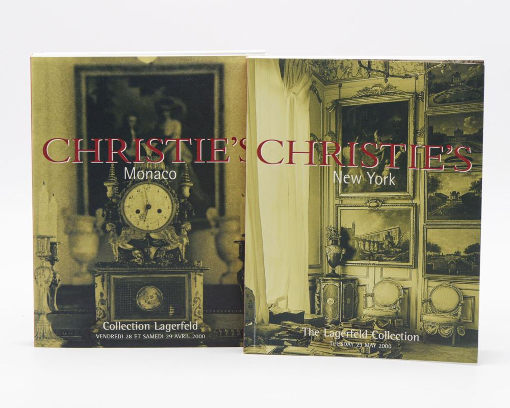 COLLECTION LAGERFELD, Christie's, 3 vols. brs.