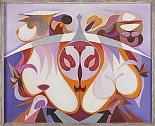VESPEIRA, Óleo sobre tela, 81 x 100 cm.