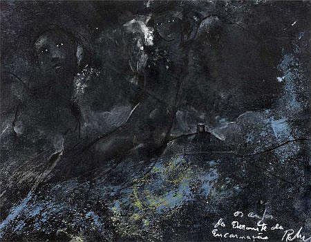 José Rodrigues, 'Os anjos do monte', mista s/papel
