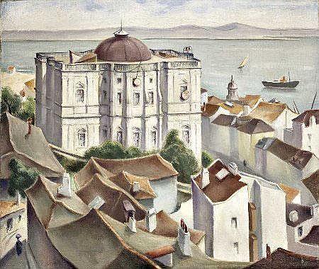 Max Braumann, Lisboa, Óleo s/ tela, 65 x 55 cm.