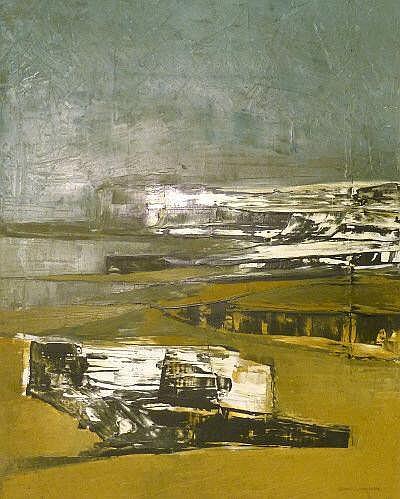 Ronald Cydney Embleton (1930-1988) 'The Beach' oil