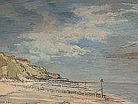 Patrick Boswell North Norfolk Coastal Landscape,oil on canvas, signed 55 x 80 cm, framed