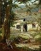 [ Oil Painting ] William Lakin Turner, (1867-1936) A LAKELAND COTTAGE BY A STREAM oil on board, signed lower left, 27cm x 22cm, (10 6in x 8.6in),, William Lakin Turner, Click for value