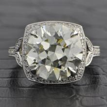 GIA 7.07 Carat Transitional Cut Diamond Engagement Ring
