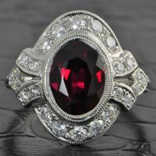 Striking Platinum Ruby Ring