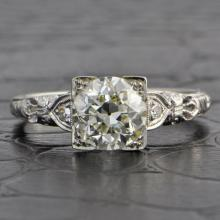 1.42 Carat Old European Cut Diamond Ring