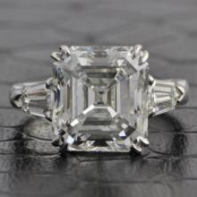 GIA 6.27 Carat Emerald Cut Diamond Engagement Ring