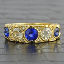 Estate Sapphire and Diamond Band