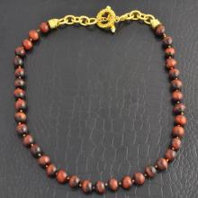 Dyed Tiger's Eye Quartz Necklace
