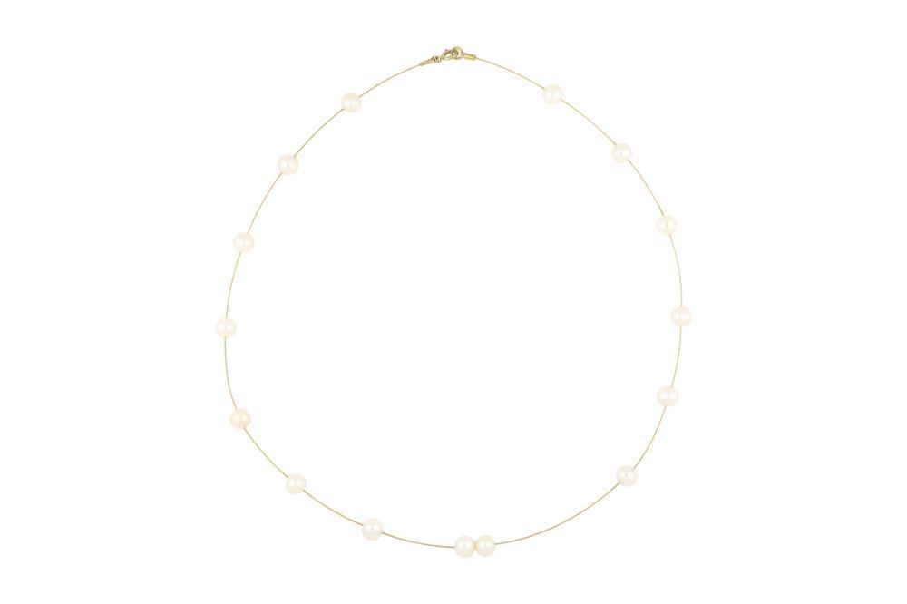 14ct gold pearl choker, 4.6 grams