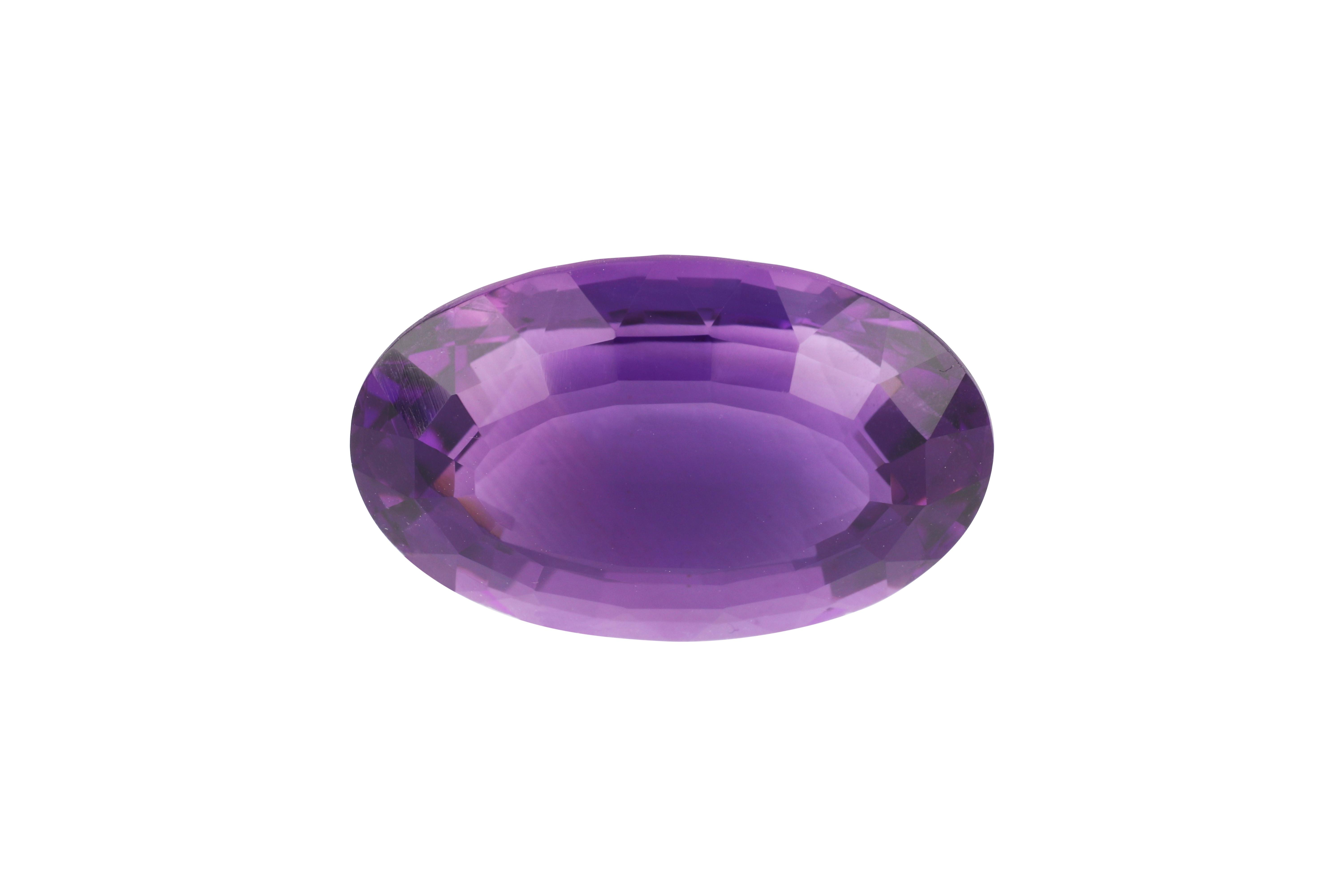 27ct loose oval faceted amethyst