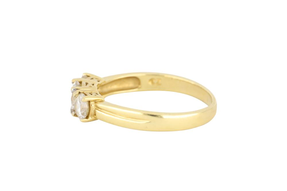 9ct gold 3 stone CZ bridge ring