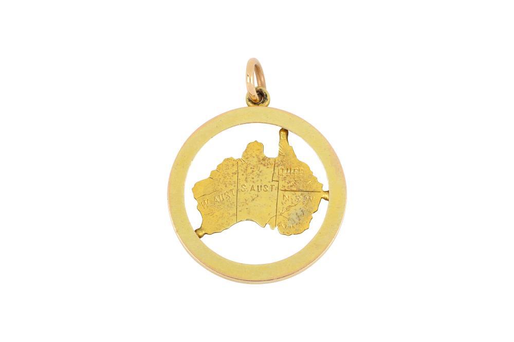 Vintage 9ct gold Australia pendant