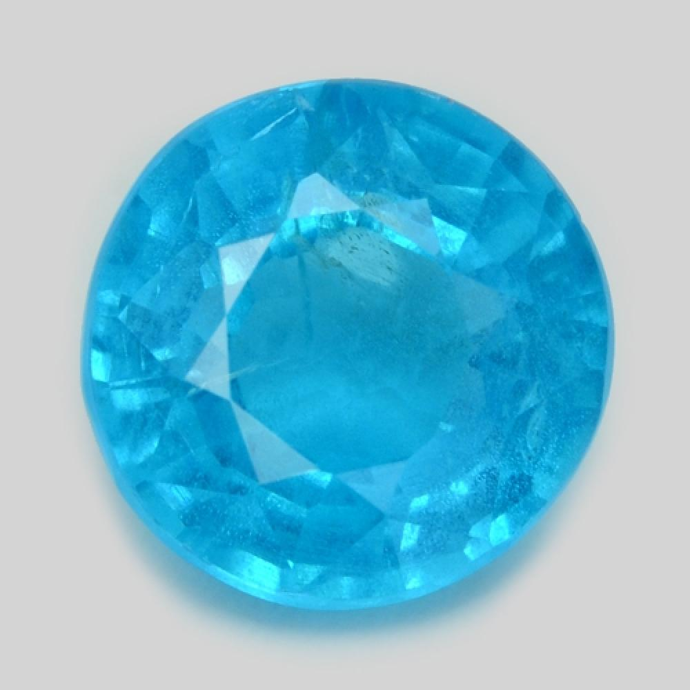 Fancy Very Rare Neon Blue Colour Natural Apatite
