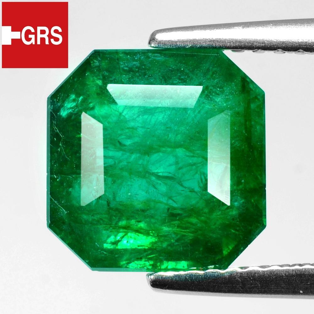 GRS Certified Natural Zambia Emerald 3.35ct