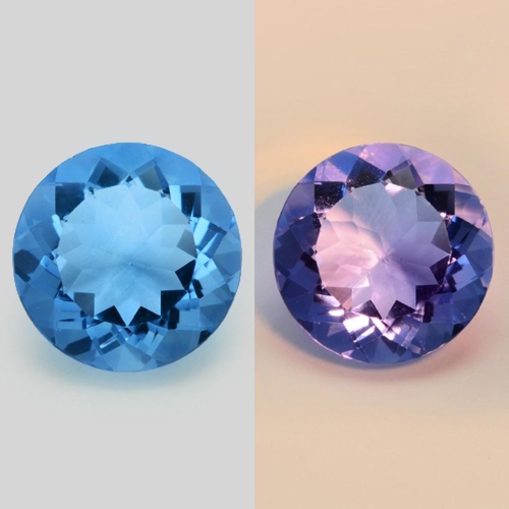 Colour Change Natural Blue Fluorite 6.8ct