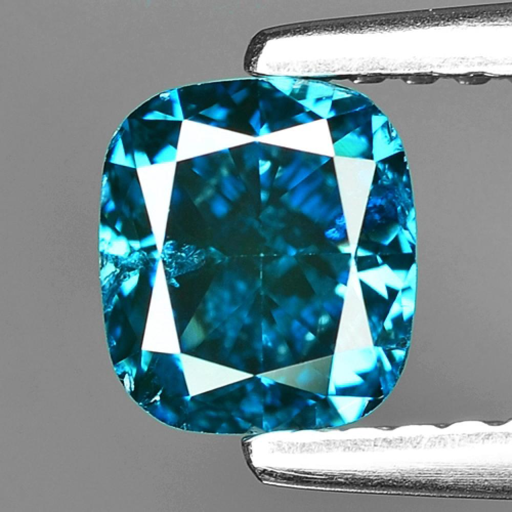 Fancy Vivid Blue Colour Natural Treated Loose Diamond 1.02ct